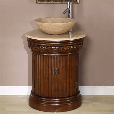 small cabinet for vessel sink 24 inch small vessel sink vanity in dark brown finish