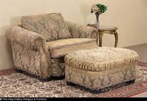 sold bolton for ej victor overstuffed chair ottoman