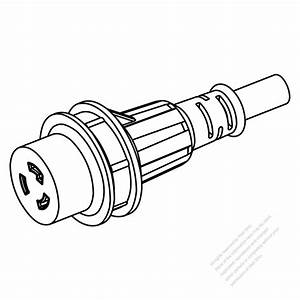 marine shore twist locking waterproof connector nema l6 With wire connector plug as well waterproof electrical 2 pin wire connector