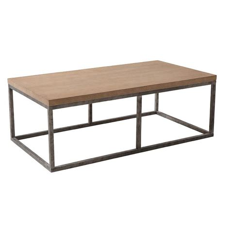 wood and iron desk wood iron coffee table