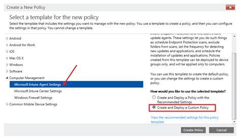 intune configure settings microsoft agent way