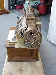 Antique, Brass, National, Cash, Register, U00ab, Obnoxious, Antiques