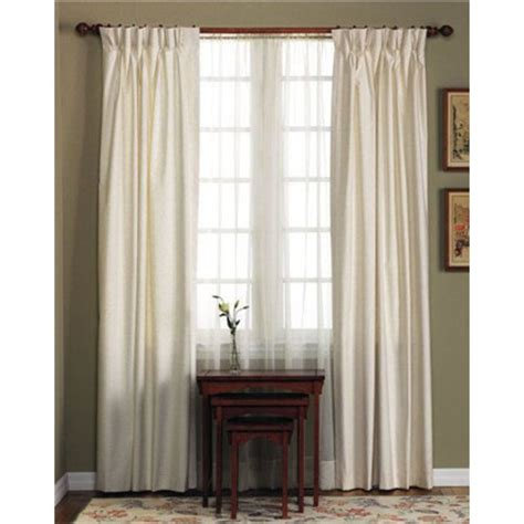 pinch pleated drapes fireside cotton duck pinch pleated insulated drapery pairs
