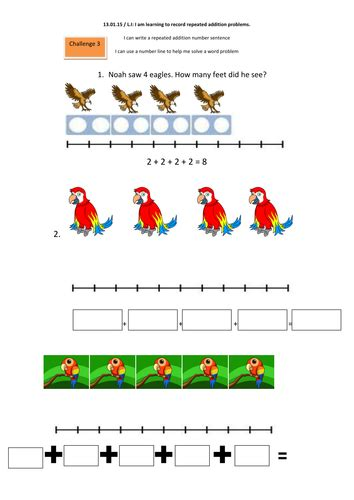 multiplication as repeated addition worksheets year 1