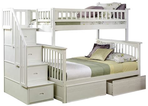 White Bunk Beds With Stairs  Top Bunk Beds Review