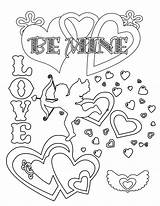 Valentines Cards Printable Coloring Pages sketch template