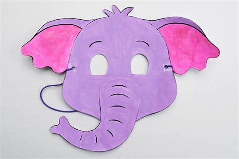 printable elephant mask kids crafts fun craft ideas