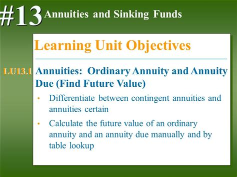 Sinking Fund Calculator Compounded Annually by Annuities And Sinking Funds Ppt