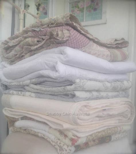 shabby chic bedding ivory shabby cottage lace linen chic ivory throw couch cot crib quilt free cushion ebay
