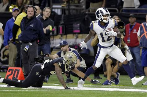 los angeles rams silence saints advance  super bowl