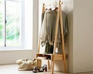 Portant Vetement Bois : portant en bois becquet ~ Teatrodelosmanantiales.com Idées de Décoration