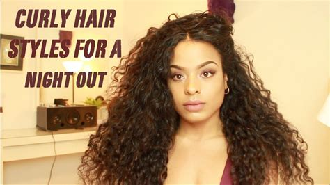 6 Curly Hair Styles For A Night Out YouTube