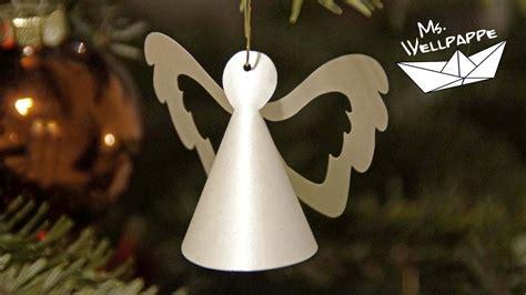 Weihnachtsdeko Selber Basteln Aus Papier by Kleine Engel Basteln Mit Papier Als Christbaumschmuck Zu