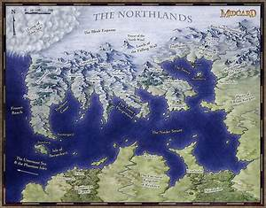 Midgard's Frozen North - Fantastic Maps
