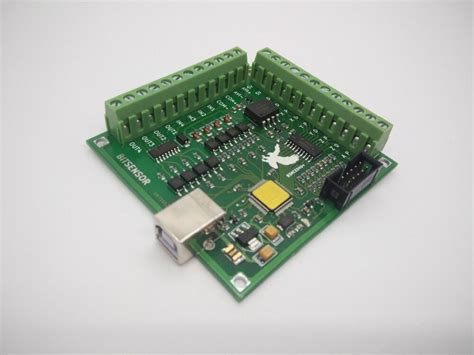 free shipping cnc mach3 usb 4 axis 100khz usbcnc smooth stepper motion controller card breakout