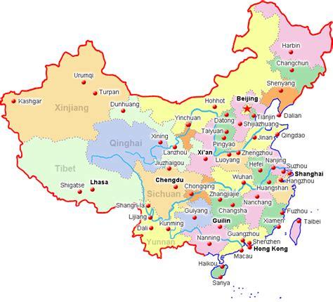 china city maps map  china cities major china cities