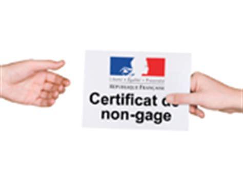 telecharger un certificat de non gages
