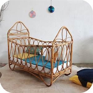 Lit Bebe Rotin : lit bebe rotin vintage atelier du petit parc ~ Teatrodelosmanantiales.com Idées de Décoration