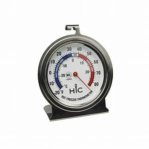 Hic Roasting Refrigerator Freezer Thermometer  Large 2 5