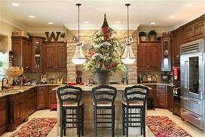 8 perfectly decorated holiday kitchens shakeology With kitchen cabinets lowes with diy christmas wall art