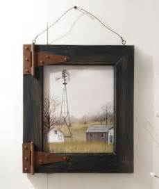 Windmill Barn Door Rustic Wood Picture Frame