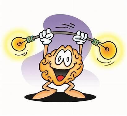Brain Cartoon Clipart Cliparts Clip Simple Power