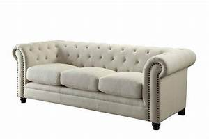 Coaster Roy 504554 Beige Fabric Sofa Steal A Sofa