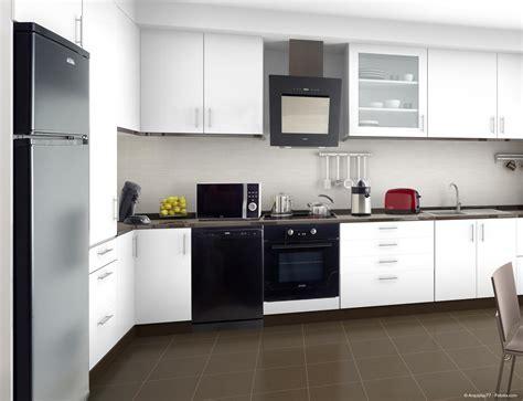 cuisine moderne noir et blanc cuisine equipee noir et blanc systembase co