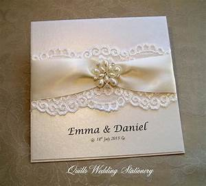Richmond Luxury Pearl And Lace Wedding Invitation Various