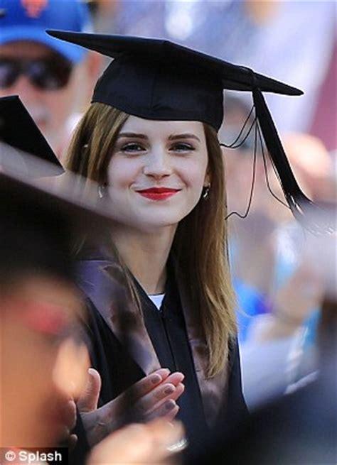 emma watson graduates brown university  armed guard