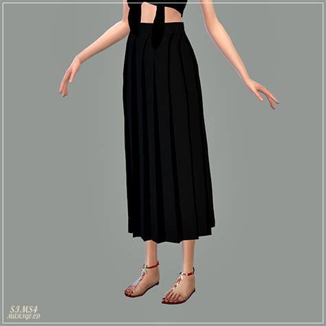 long pleats skirt  marigold sims  updates