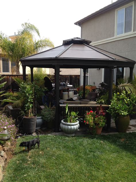 Gazebo Costo The Costco Gazebo In My Backyard Outdoor Living In 2019