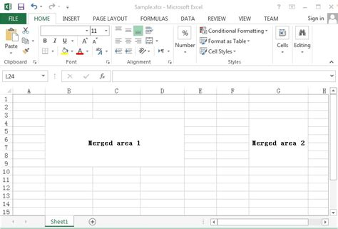 how to detect merged cells in a worksheet