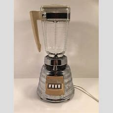 Vintage Osterizer Imperial Beehive Chrome Blender With