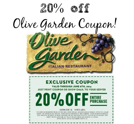 Olive Garden Coupons June 2018  Coupon For Shopping