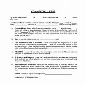 sample commercial lease agreement 6 free documents With commercial sublet lease agreement template