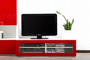 meuble rouge laque With meuble tv rouge laque