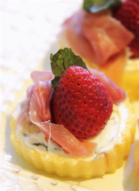 pastry canapes recipes stranded in cleveland prosciutto and strawberry canapés