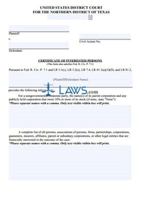 petition to seal form arkansas certificate of interested persons texas forms laws