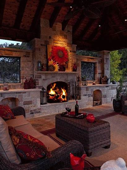 Fireplace Outdoor Living Indoor Place Fireplaces Outside