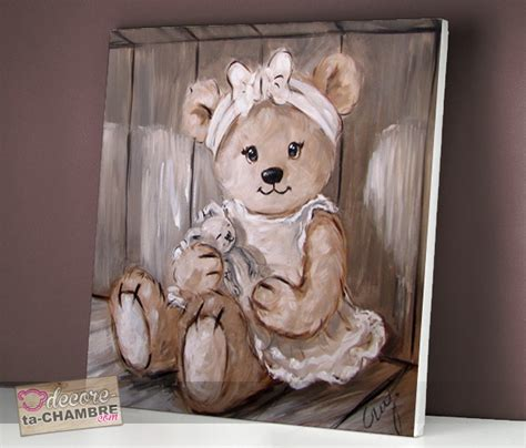 tableau ourson chambre bébé tableau ourson fille pour chambre de fille