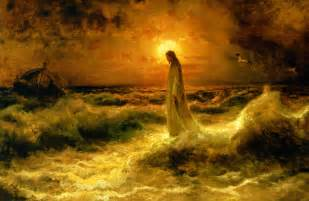 Image result for images of jesus walking on water