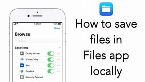 how to use files app to save files locally in your iphone With documents app to download youtube
