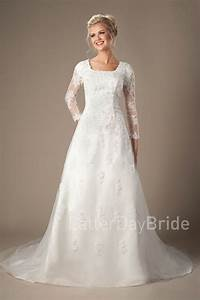 murphy modest wedding dresses lds bride lace With lds modest wedding dresses