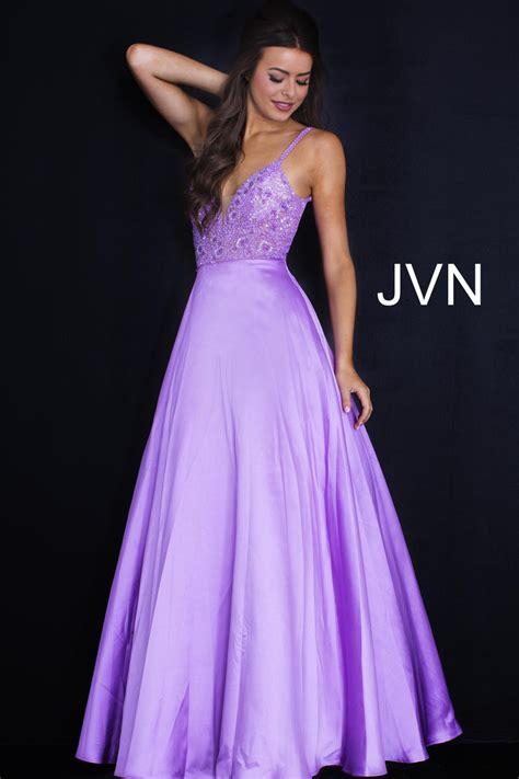 JVN Prom JVN51328 V Back Embellished Gown: French Novelty