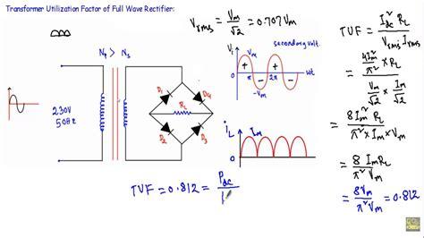 transformer utilization factor  full wave bridge