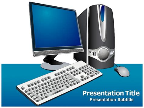 computer parts powerpoint templates  backgrounds