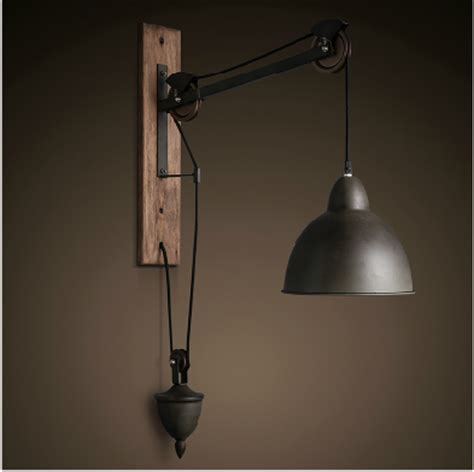 barn pulley wall light vintage industrial cast iron wall