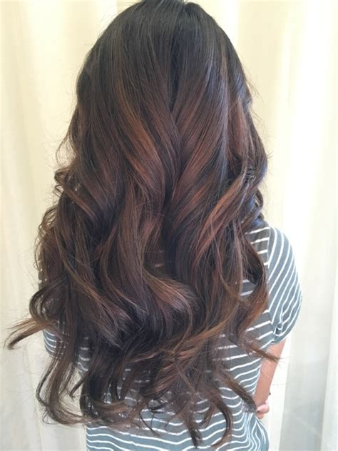 Black Hair Coloring by Balayage Hair Coloring In Irvine Hair Salon