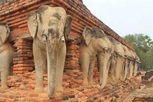 Cycling between Ancient Ruins in Sukhothai, Thailand